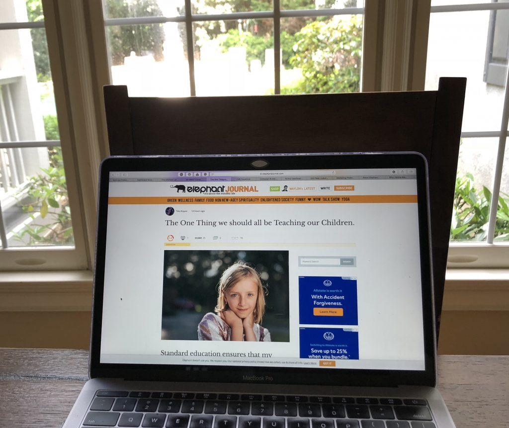 Raising Mindful Kids | LaLa's World Featured on Elephant Journal